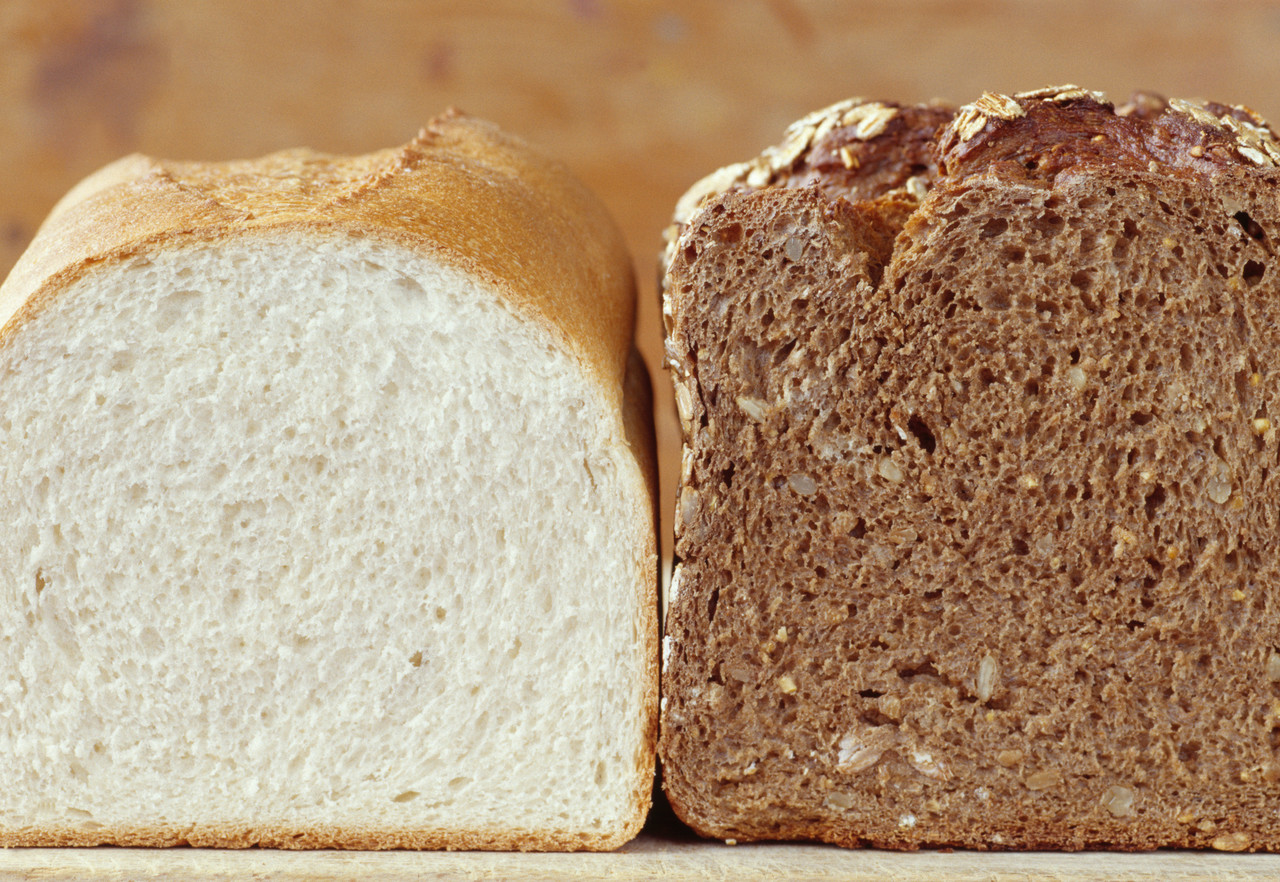 White bread and brown bread --- Image by © Royalty-Free/Corbis