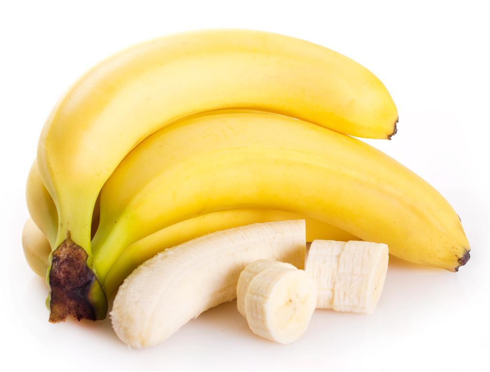 fresh banana isolated on white background
