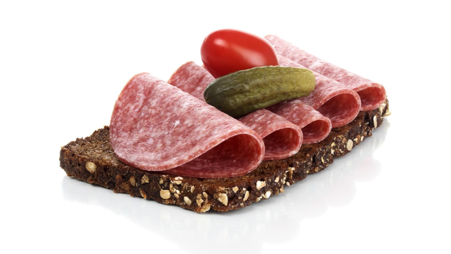 бутерброд фото с колбасой
